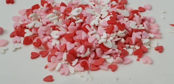 Valentine Hearts Clay Bits