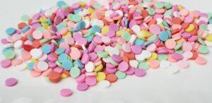 Rainbow Dots Clay Bits