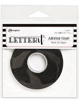 Letter It Black Foam Roll Tape