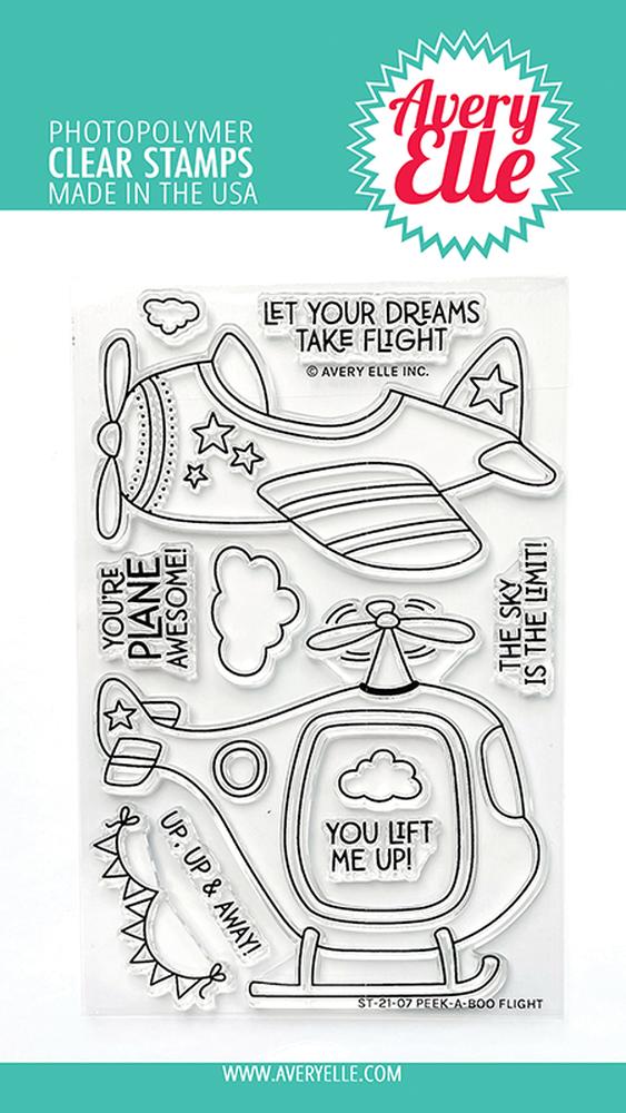 Peek A boo Flight stamp