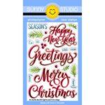Season's Greetings Word Stamp