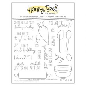 Baked With Love Clear Stamp