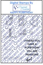 Happy Purrthday Digital Stamp
