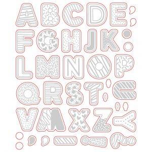 Sugar Cookie Alphabet Honey Cuts