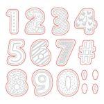 Sugar Cookie Numbers Honey Cuts