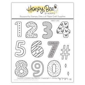 Sugar Cookie Numbers Clear Stamp
