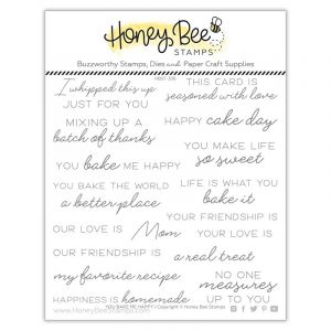You Bake Me Happy Clear Stamp