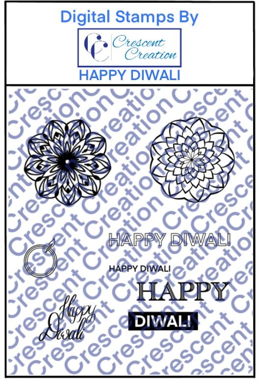 Happy Diwali Digital Stamp 1