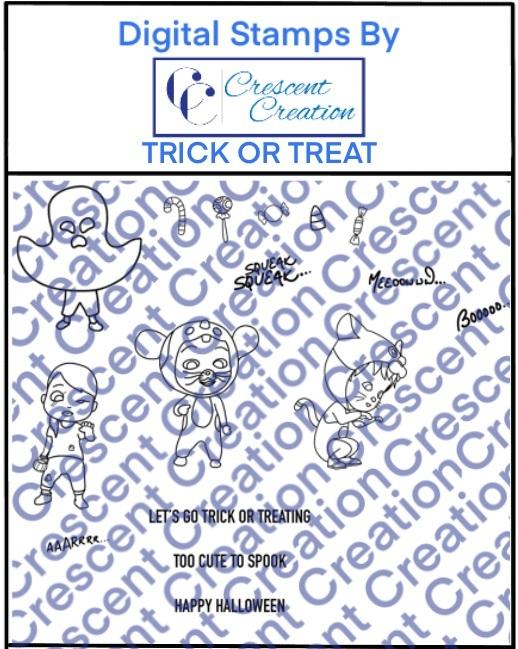 Trick or Treat Digital Stamp 1
